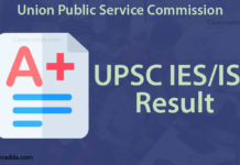 UPSC IES ISS Result