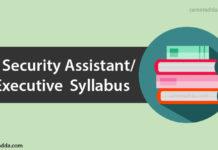IB Security Assistant Executive Syllabus