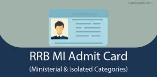 RRB MI Admit Card
