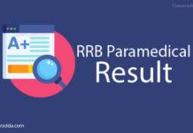RRB Paramedical Result