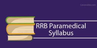 RRB Paramedical Syllabus