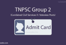 TNPSC Group 2 Admit Card