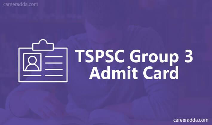 TSPSC Group 3 Hall Ticket