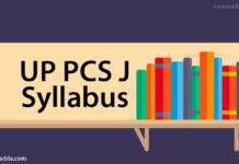 UP PCS J Syllabus