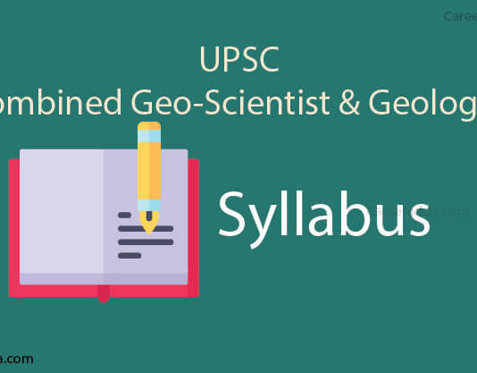 UPSC Geologist & Scientist Syllabus