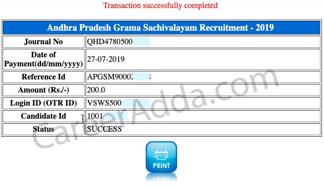 AP Grama Sachivalayam Application Submit