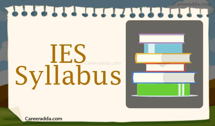 UPSC IES Syllabus