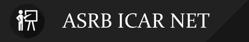 ASRB ICAR NET